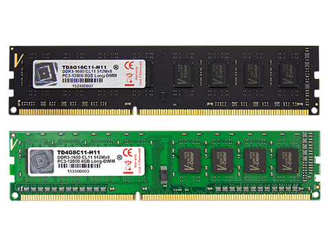 Ram V-COLOR DDR3 4GB bus 1600MHz