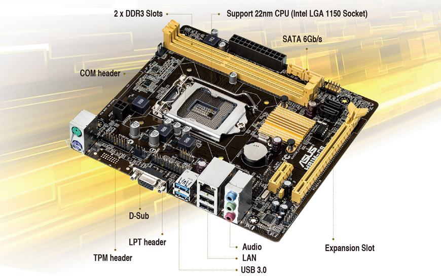 Main Asus H81M-CS (Chipset Intel H81/ Socket LGA1150/ VGA onboard)