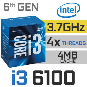CPU Intel Core i3-6100 3.7 GHz / 3MB / Socket 1151